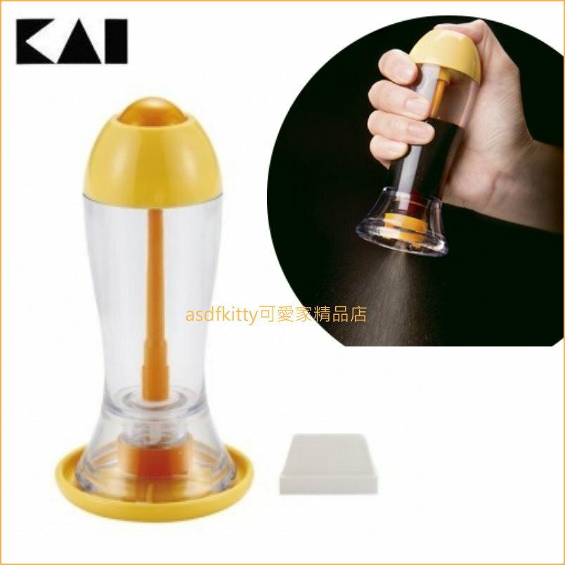 asdfkitty可愛家☆貝印 醬油噴霧罐 DH-7009 一次噴灑約0.1ml-控制鹽分攝取-日本正版商品