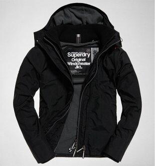 極度乾燥 Superdry Superdry Pop Zip Hood Arctic Windcheate 灰色內裡黑色外套 防風外套 男款