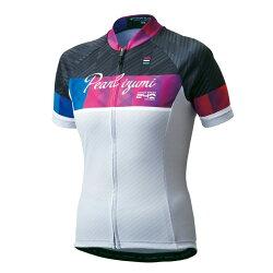【7號公園自行車】PEARL IZUMI W621-B-18 基本款女性短袖公路車衣(白) 吸濕快排 抗紫外線UV