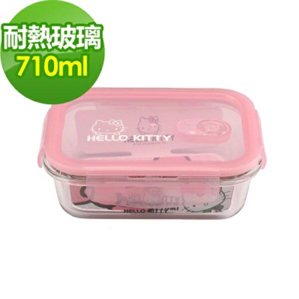 【省錢博士】Hello kitty耐熱玻璃保鮮盒 (710ml)