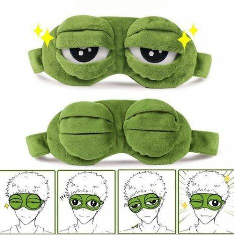 搞怪青蛙眼睛形狀護目眼罩 睡眠眼罩 遮光眼罩【Z90517】