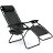 Zero Gravity Chairs Case Of (2) Black Lounge Patio Chairs Utility Pool Tray Cup Holders 2