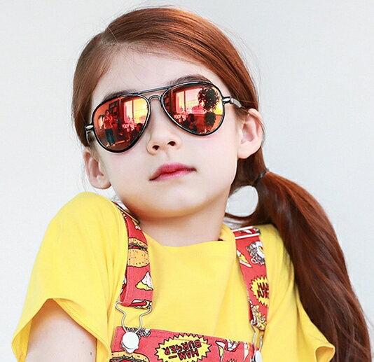 Kocotree◆ 時尚潮流酷炫雷朋輕版升級版兒童炫彩太陽眼鏡-真紅