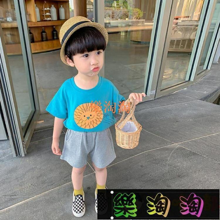 男童短袖t恤夏裝兒童夏季寶寶打底衫純棉小童半袖洋氣薄款上衣潮 happybee