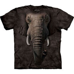 【摩達客】(預購) 美國進口The Mountain 象臉 純棉環保短袖T恤
