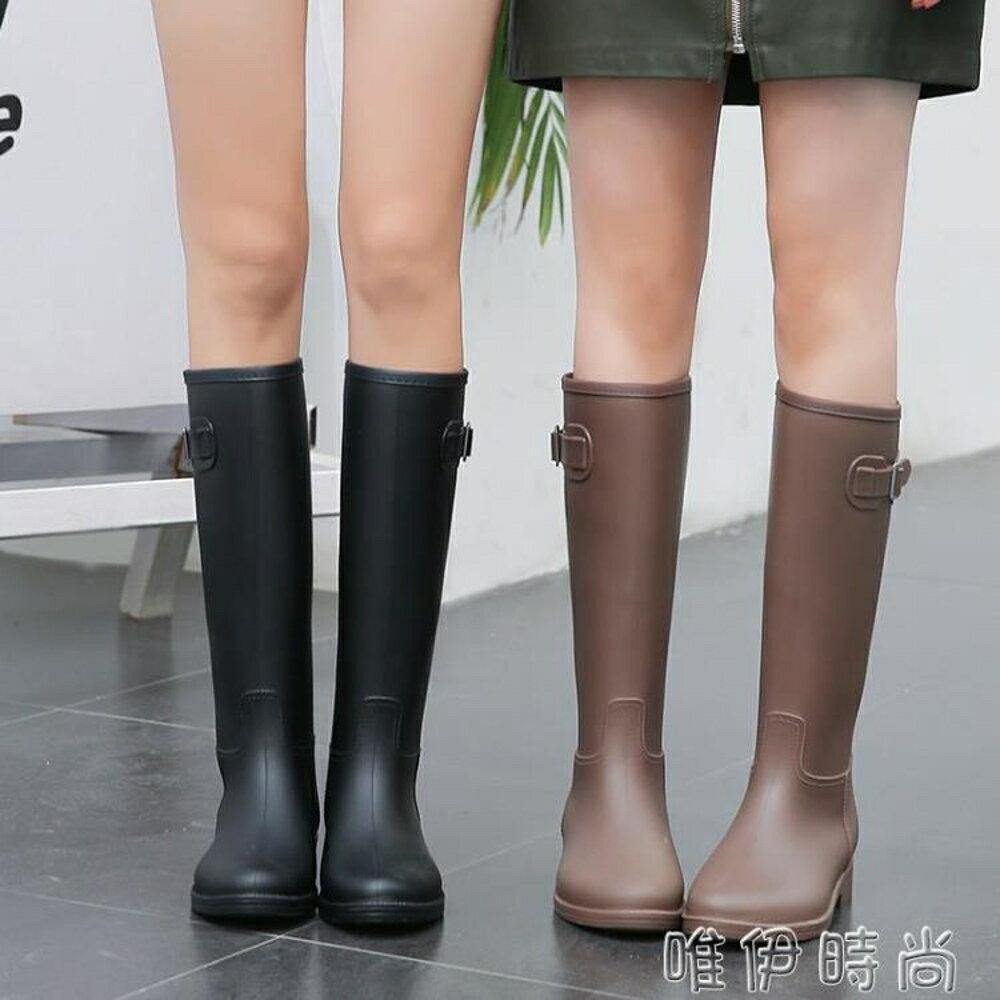 雨靴 MAIYU 輕量簡約時尚雨鞋女成人雨靴夏季高筒水靴防滑膠鞋女士水鞋 唯伊時尚
