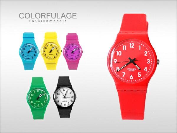 柒彩年代˙史上最輕巧矽膠男女兼用手錶 果凍系列馬卡龍色腕錶【NE600】單支價格 0