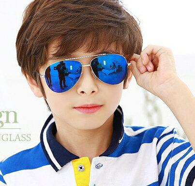 Kocotree◆經典帥氣小雷朋兒童紫外線護目太陽眼鏡-寶藍