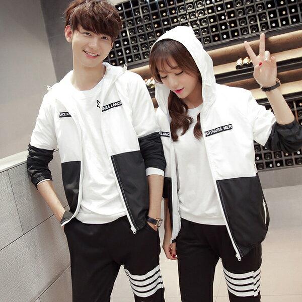 紅舍潮流【C022】韓版情侶外套 休閒外套 外套 飛行外套 薄外套 風衣 棒球外套 連帽外套.