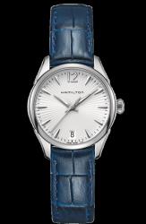 Hamilton 漢米爾頓 JazzMaster 爵士型優雅簡約女腕錶 H42211655 銀 藍 30mm