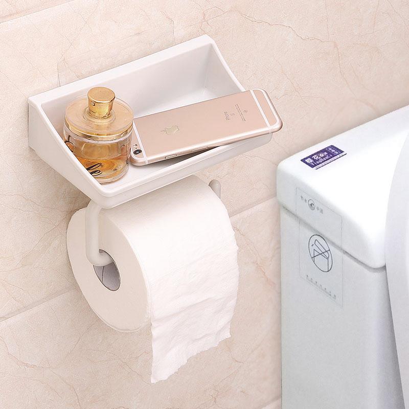【618購物狂歡節】衛生間紙巾盒 廁所卷紙架免打孔 衛生間紙巾掛架放衛生紙置物架 卷筒手紙廁紙盒