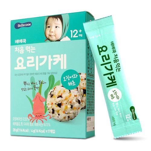 韓國【Bebecook寶膳】智慧媽媽初食拌飯香鬆海苔魷魚28g