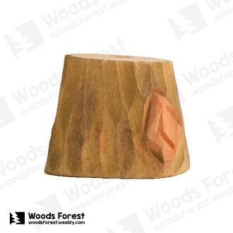 木雕森林 Woods Forest - 木雕筆專用單孔筆座【樹樁】( WF-H05)
