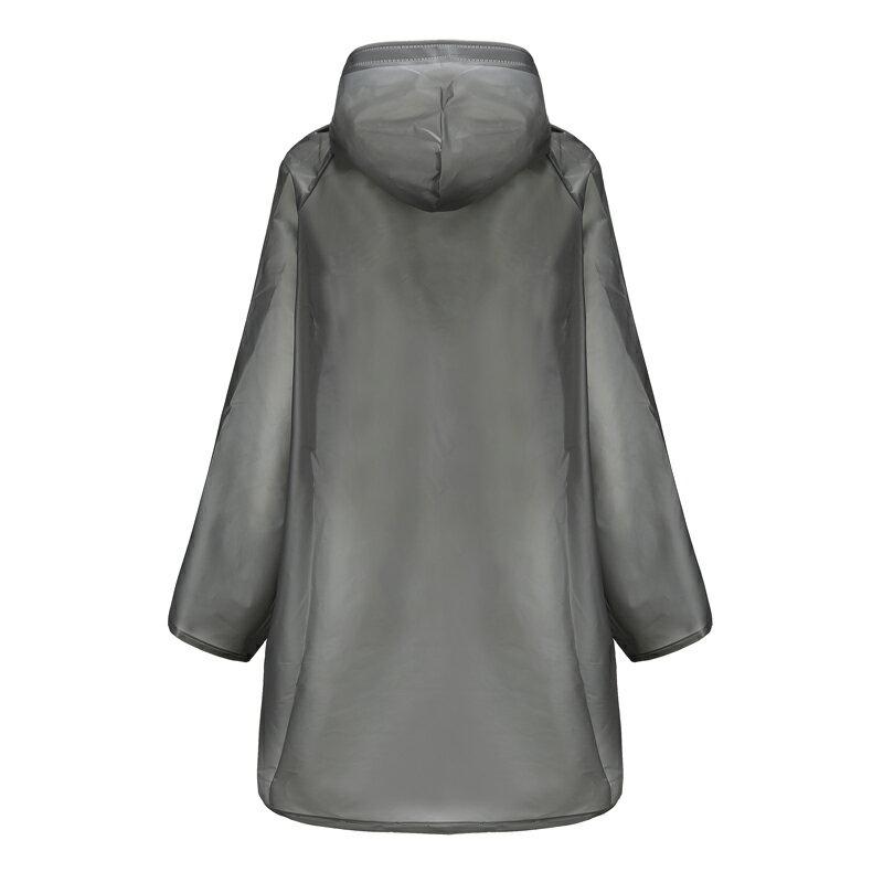 EVA加厚款 成人男生女生雨衣 黑色白色磨砂 半透明 防水 版型修身 優質面料 無異味 戶外雨衣 韓版 雨具 7