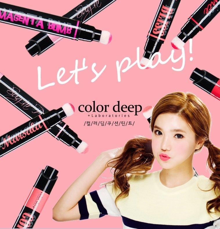 <br/><br/> 韓國 color deep 絲絨霧感氣墊唇釉筆 4.2g (按壓式)【櫻桃飾品】【26580】<br/><br/>