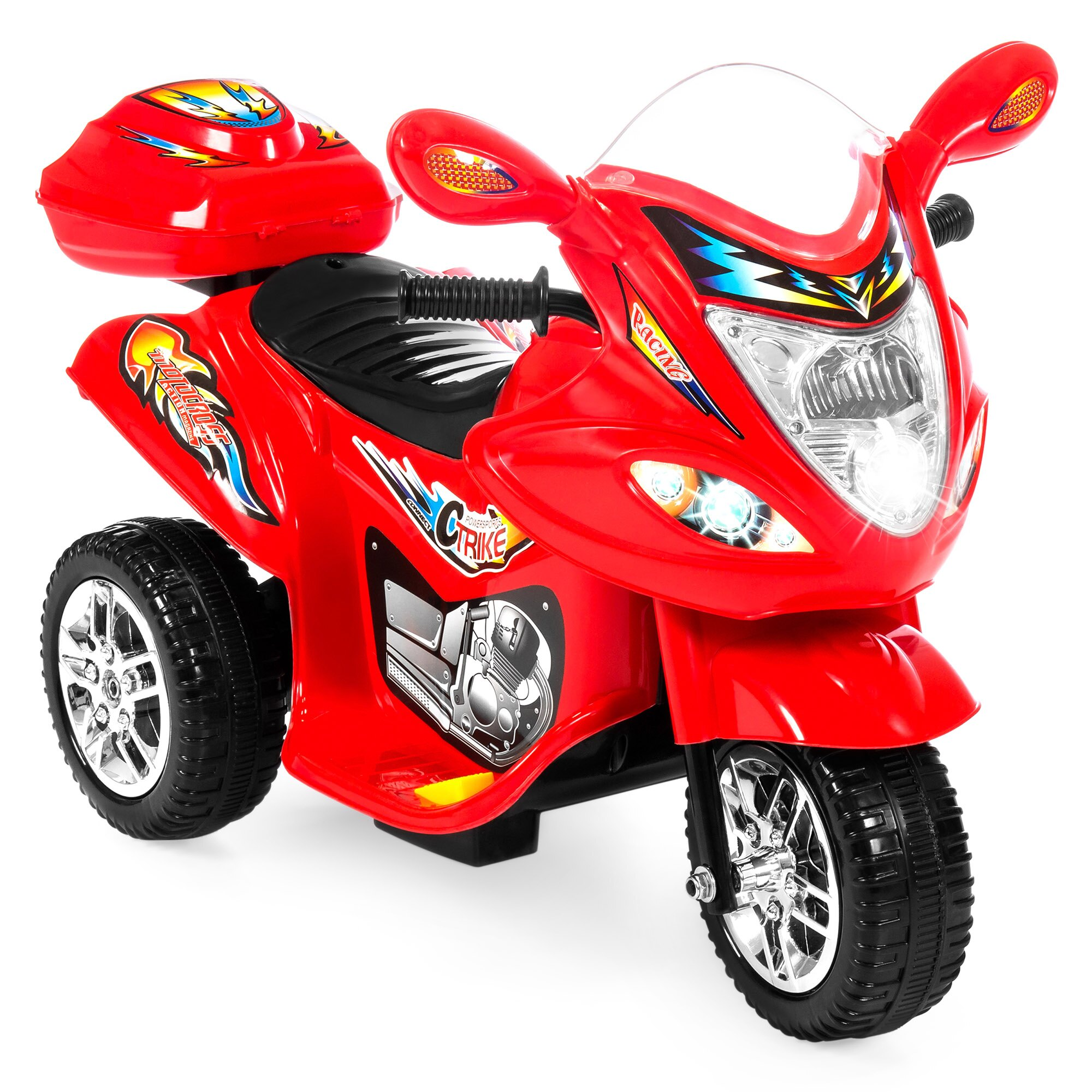 aa29ca65f3e Best Choice Products 6V Kids Battery Powered 3-Wheel Motorcycle Ride-On Toy  w