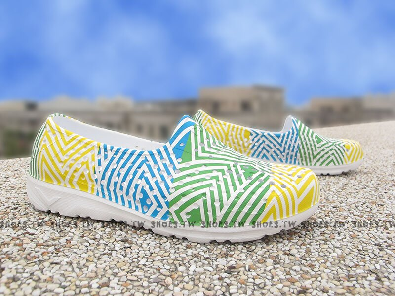 《下殺5折》Shoestw【62K1SA62YW】PONY TROPIC 水鞋 童鞋 軟Q 防水 洞洞鞋 三色冰 親子鞋