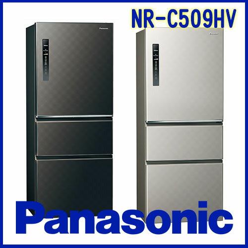 奇博網:Panasonic國際牌500LECONAVI無邊框鋼板系列NR-C509HVS銀河灰K星空黑