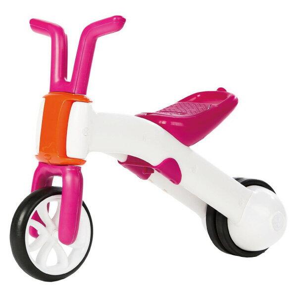 比利時 Chillafish 二合一漸進式玩具Bunzi寶寶平衡車/滑步車-亮桃紅
