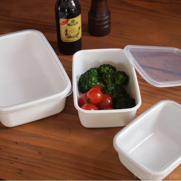 野田琺瑯 /  長方深型琺瑯收納盒透明EVA樹脂上蓋 2