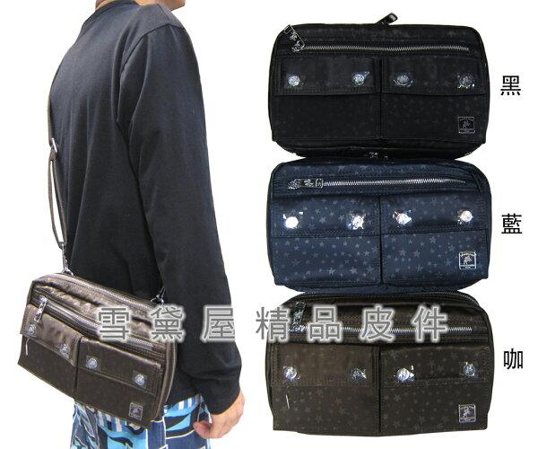 ~雪黛屋~SANDIA-POLO斜側包腰包小容量主袋內二隔層進口防水尼龍布材質隨身物品中性款BSP10174P035