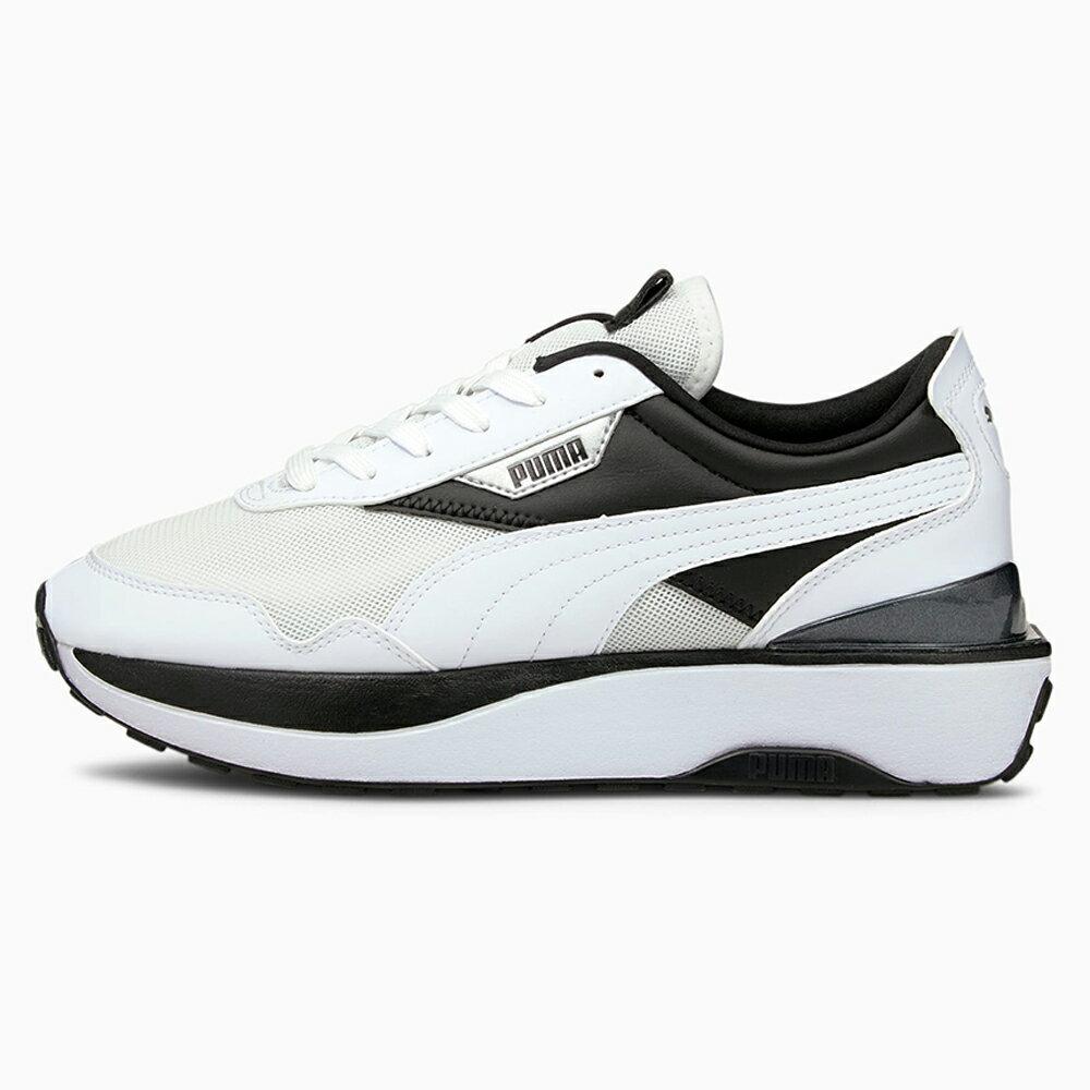 【全館滿額88折】【現貨】PUMA CRUISE RIDER 女鞋 休閒 厚底 輕量 皮革 白 黑【運動世界】37486503