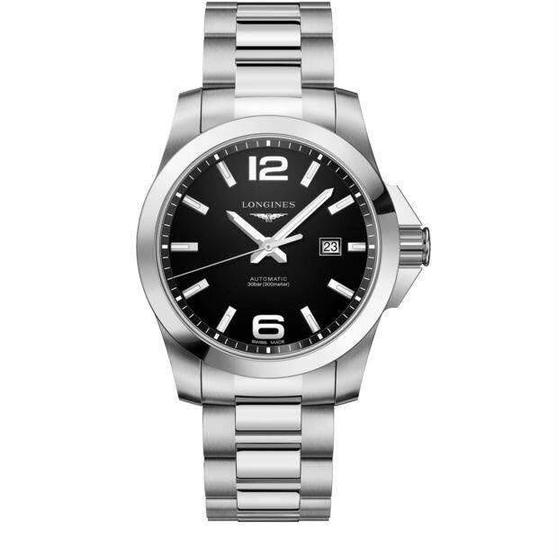LONGINES 浪琴 L37784586 潛水型經典征服者機械腕錶/黑面43mm