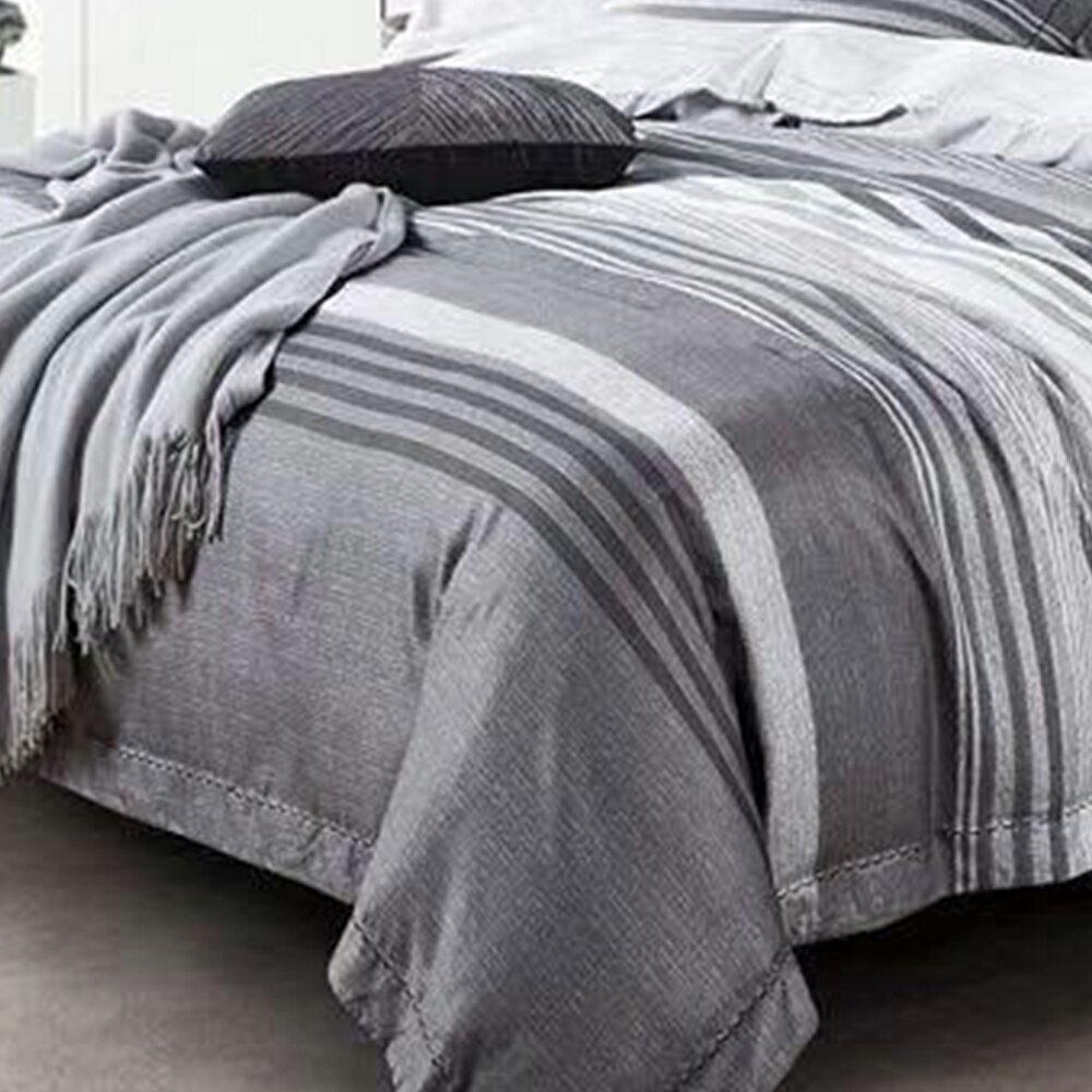 床包被套組  /  雙人【紳士品味】科技天絲 含兩件枕套 戀家小舖 好窩生活節 2