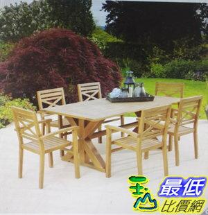 [COSCO代購]W1500044尤加利木製餐桌椅7件組
