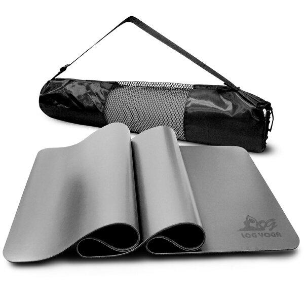 LOG樂格:LOGYOGA樂格環保無毒PU專業款瑜珈墊-灰色(厚度0.5cm)