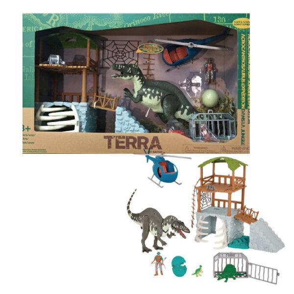 美國 TERRA 高棘龍瞭望台/恐龍玩具