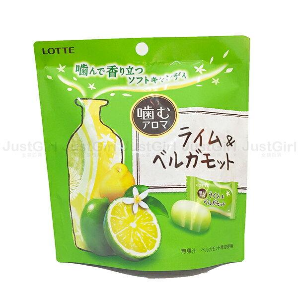 樂天LOTTE 口嚼糖 萊姆檸檬香氛糖 芳香精油軟糖 24g 食品 日本製造進口 * JustGirl *