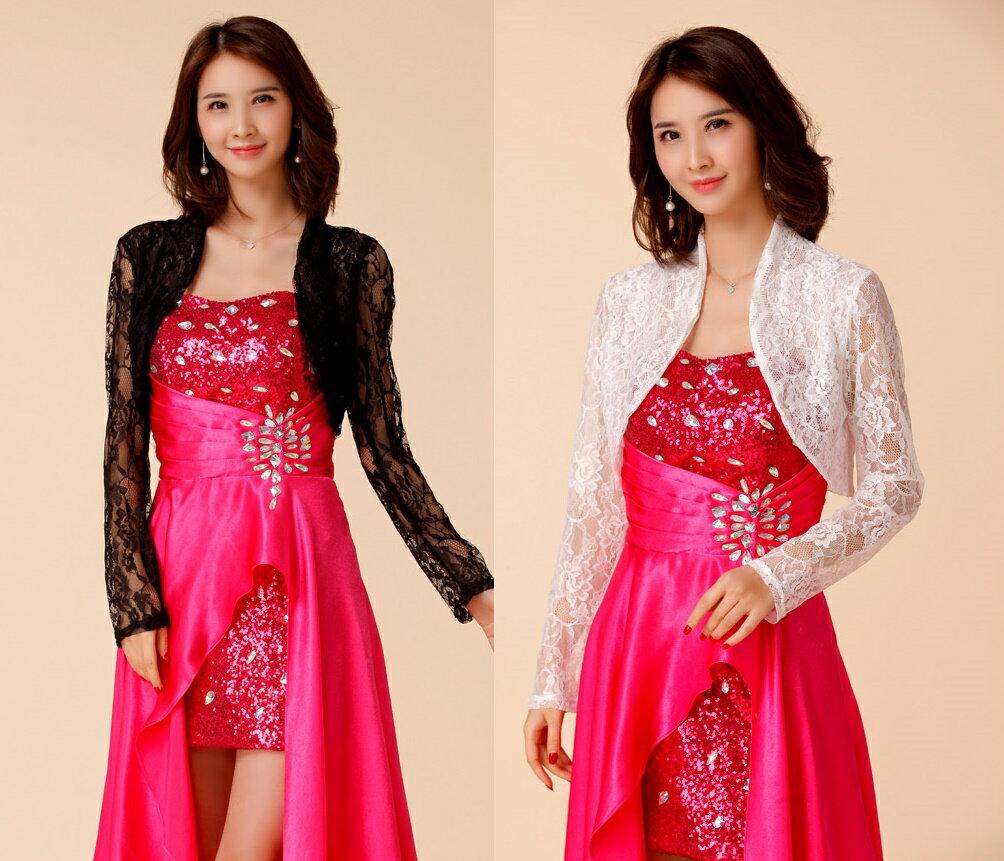 天使嫁衣【J2K9670】2色韓版蕾絲長袖披肩小外套薄款˙預購訂製款