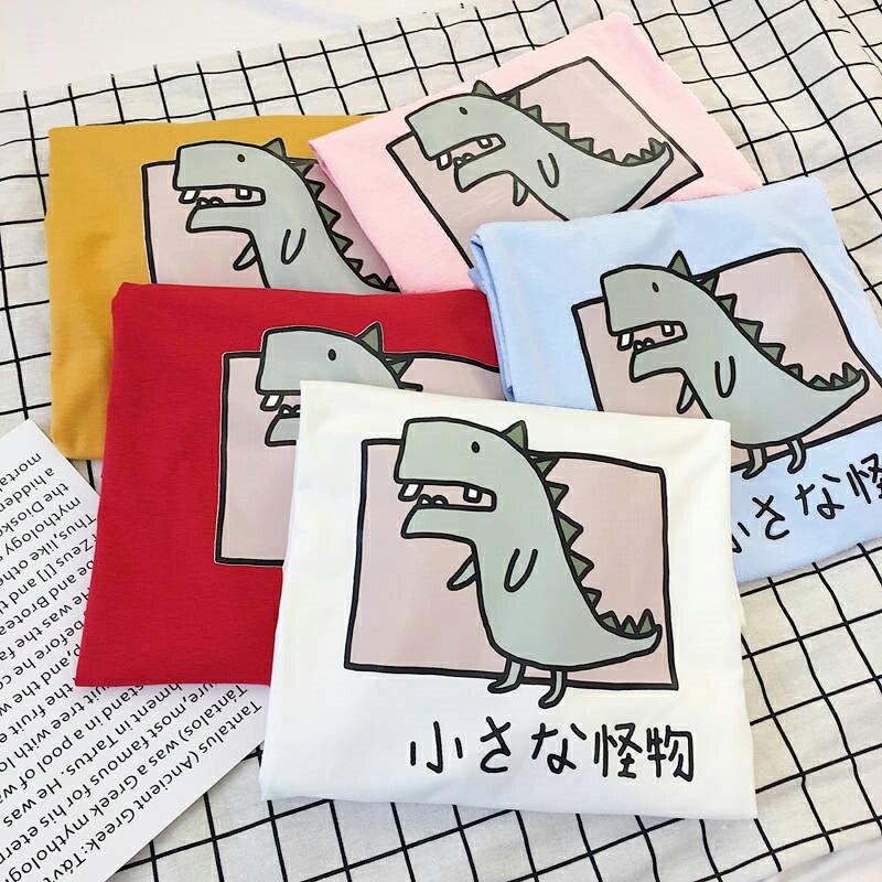 現貨 情侶裝 潮T 班服 情侶t 純棉短t  【YC733】短袖 粉框小怪物  台灣製造 快速出貨 加大尺碼 客製化 2