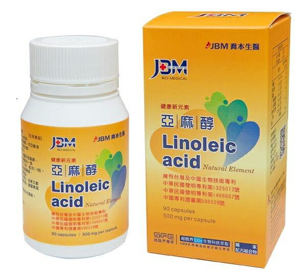 JBM喬本亞麻醇膠囊90粒/罐 兩罐組 芝麻 維生素E 維他命E 喬本生醫