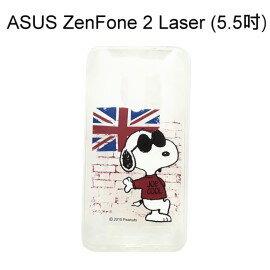 SNOOPY 史努比透明軟殼 [英國] ASUS ZenFone 2 Laser ZE550KL (5.5吋)【台灣正版授權】
