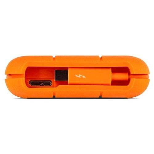 LaCie Rugged Thunderbolt All-Terrain Storage 500GB SSD w/ Integrated Thunderbolt Cable (9000491) 1