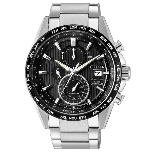 大高雄鐘錶城:CITIZEN星辰錶AT8154-82E高科技鈦金屬電波光動能腕錶黑面42mm