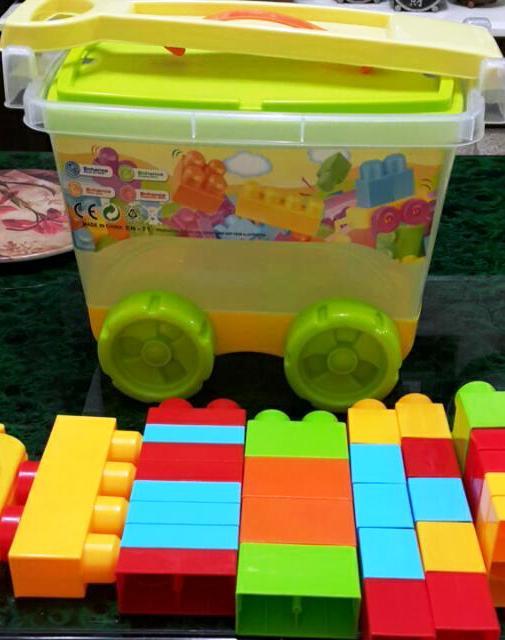 【兒童玩具】創意積木拉車