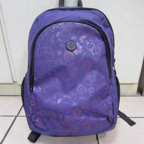 ~雪黛屋~KAWASAKI 優質印花平板後背包 超輕防水尼龍布材質 可放平板電腦A4資料夾KA-145紫