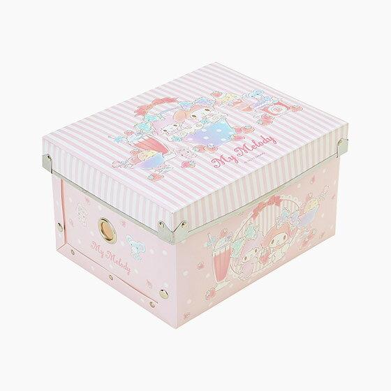 【真愛日本】17070600002 組合式收納箱S-MM粉+AAUB 三麗鷗 melody美樂蒂 收納盒 置物 日用品