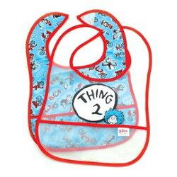 【淘氣寶寶】美國 Bumkins 防水 兒童 圍兜(一般無袖款6個月~2歲適用) (2入) - T2款 BKSES-T2