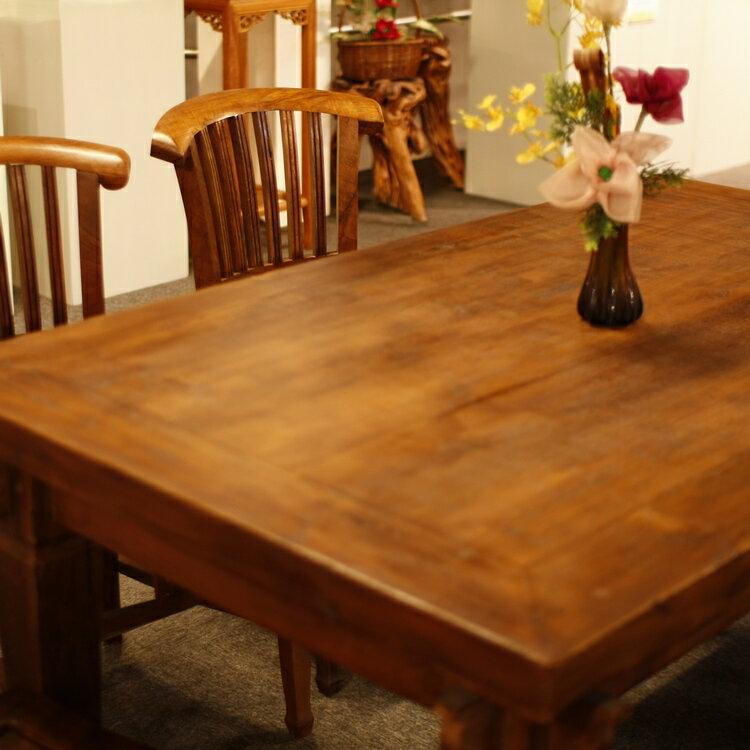 實木餐桌椅組(柚木)