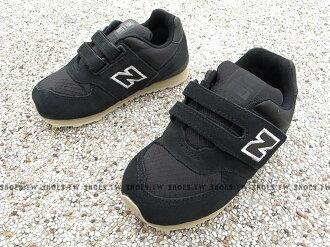 Shoestw【KV574VII】NEW BALANCE 574 童鞋 運動鞋 小童 黑色 復古 麂皮 黏帶