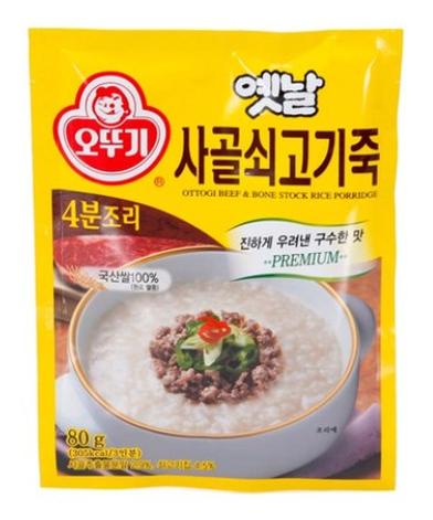 奧多吉 韓國 傳統牛肉粥 80g(三人份)