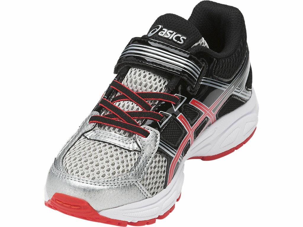[陽光樂活]ASICS 亞瑟士 PRE-Contend 4 PS 兒童慢跑鞋 C709N-9306(黑X銀)