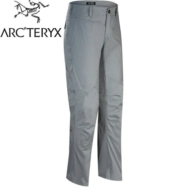 Arcteryx始祖鳥休閒長褲登山褲軟殼褲快乾排汗StowePant17208男飛馬灰