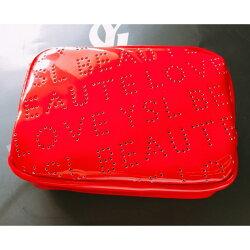 YSL 聖羅蘭 普普風漆皮包 熱戀紅 口紅袋 化妝包 小乖小舖【購物滿199,全家取貨免運】