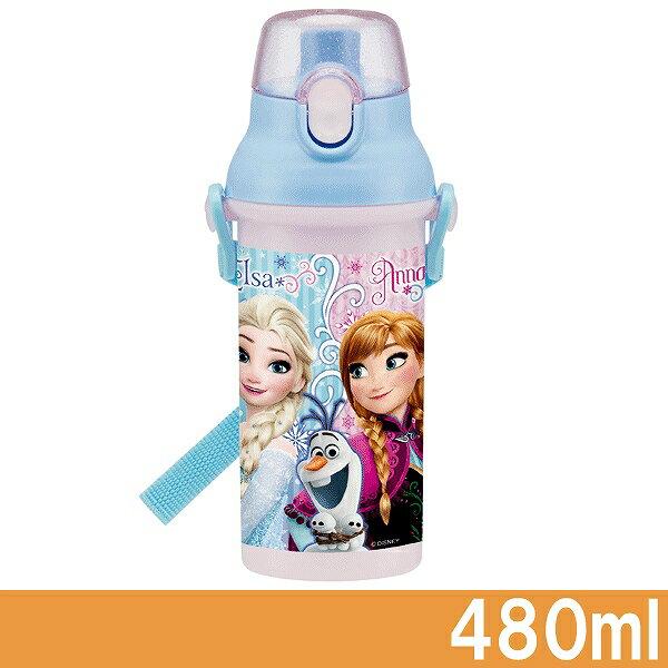 【冰雪奇緣 Frozen】直飲式背帶兒童水壺 480ml‧日本製