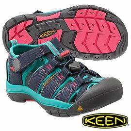 Keen Newport H2 兒童護趾水陸 兩用鞋 深藍/土耳其藍 1012316